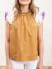 zelda flutter sleeve top - honey