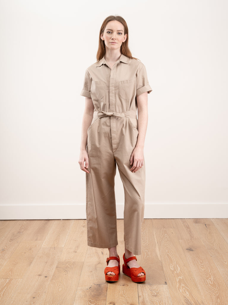 ege jumpsuit - light safari