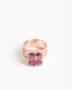 effigy ring - watermelon tourmaline