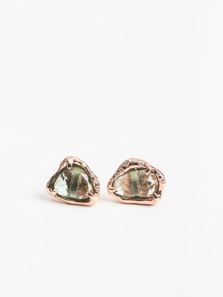 Siriciam Tourmaline Slice Earrings