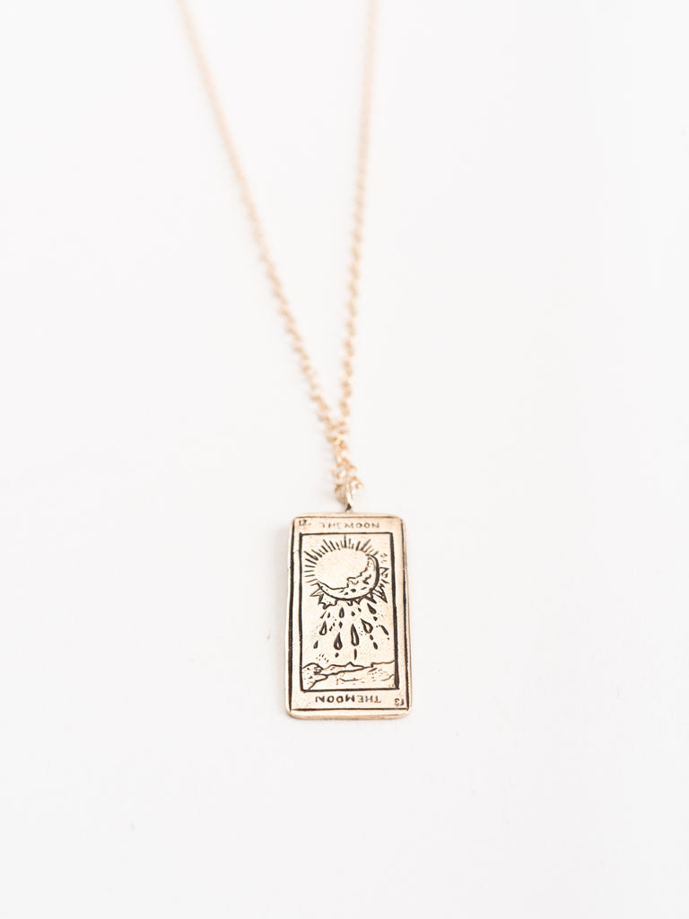 tarot card pendant - the moon