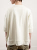 oversized short sleeve sweatshirt - knit chalk
