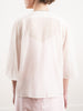 shirt with ruffled front - woven blush