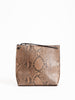 strappy pouch - brown diamond python