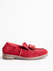 tassel slip on loafer - dark red