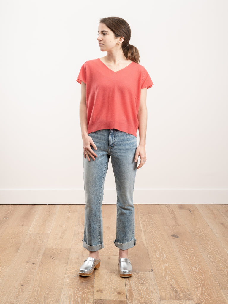 silvi short sleeve top - tea rose