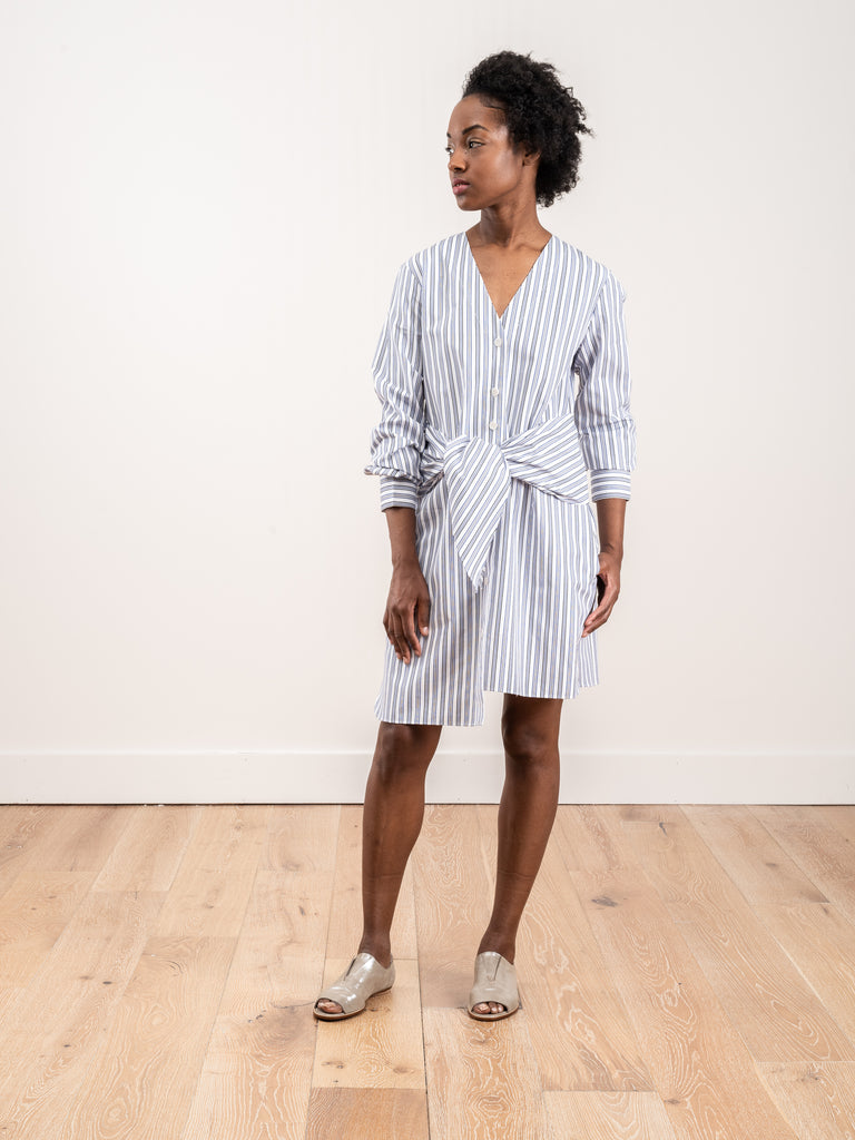 stripe vneck shirtdress