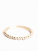 1/2 eternity band with diamond
