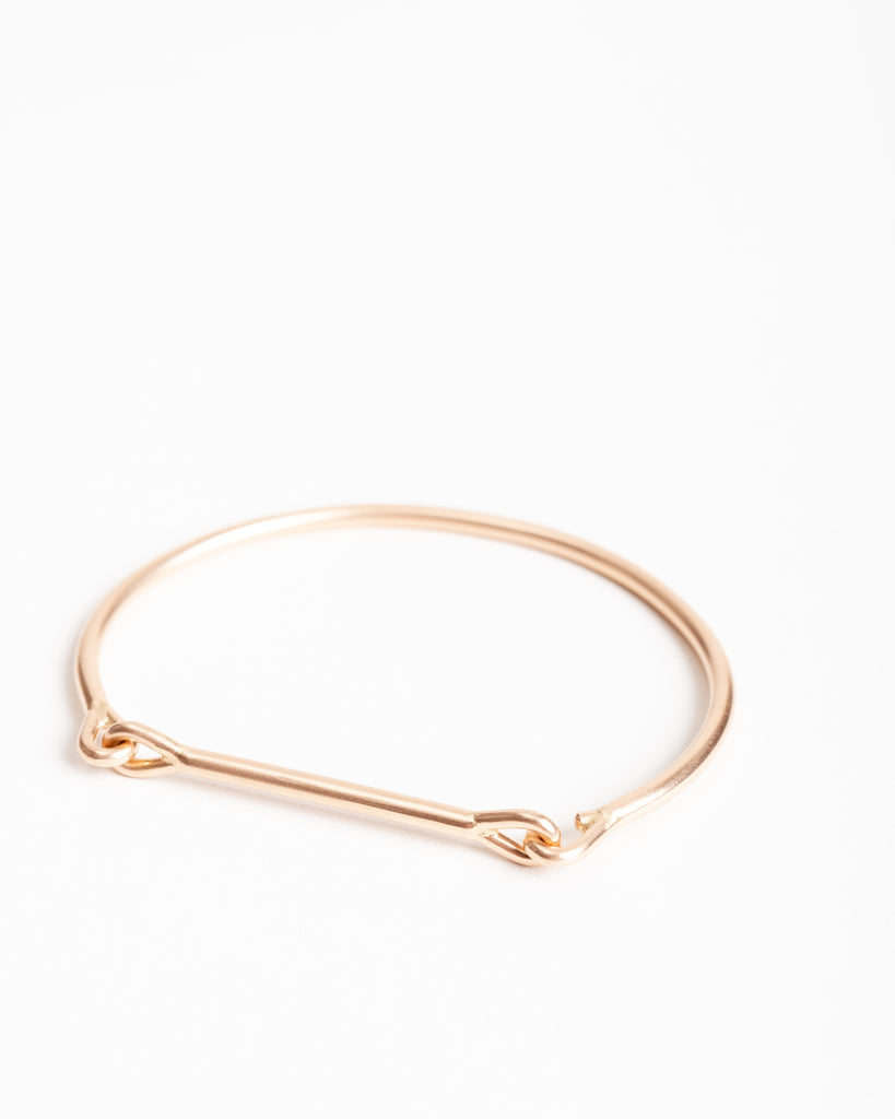 needle eye cuff - rose gold