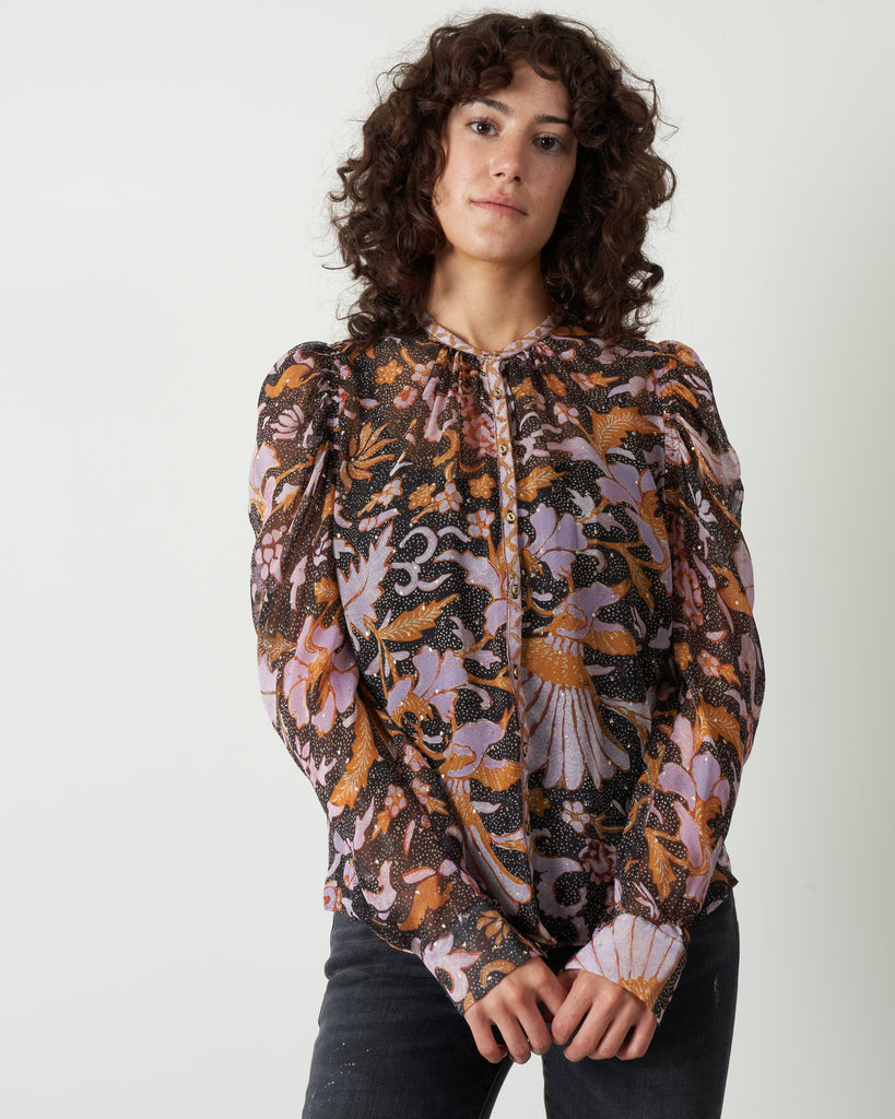 cassia blouse - midnight