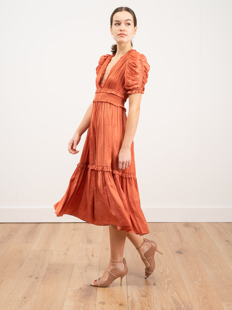 Ulla Johnson Maya Dress Coral