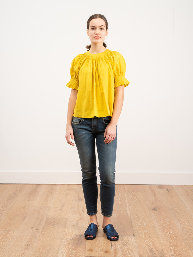 Ulla Johnson Olive Top Chartreuse