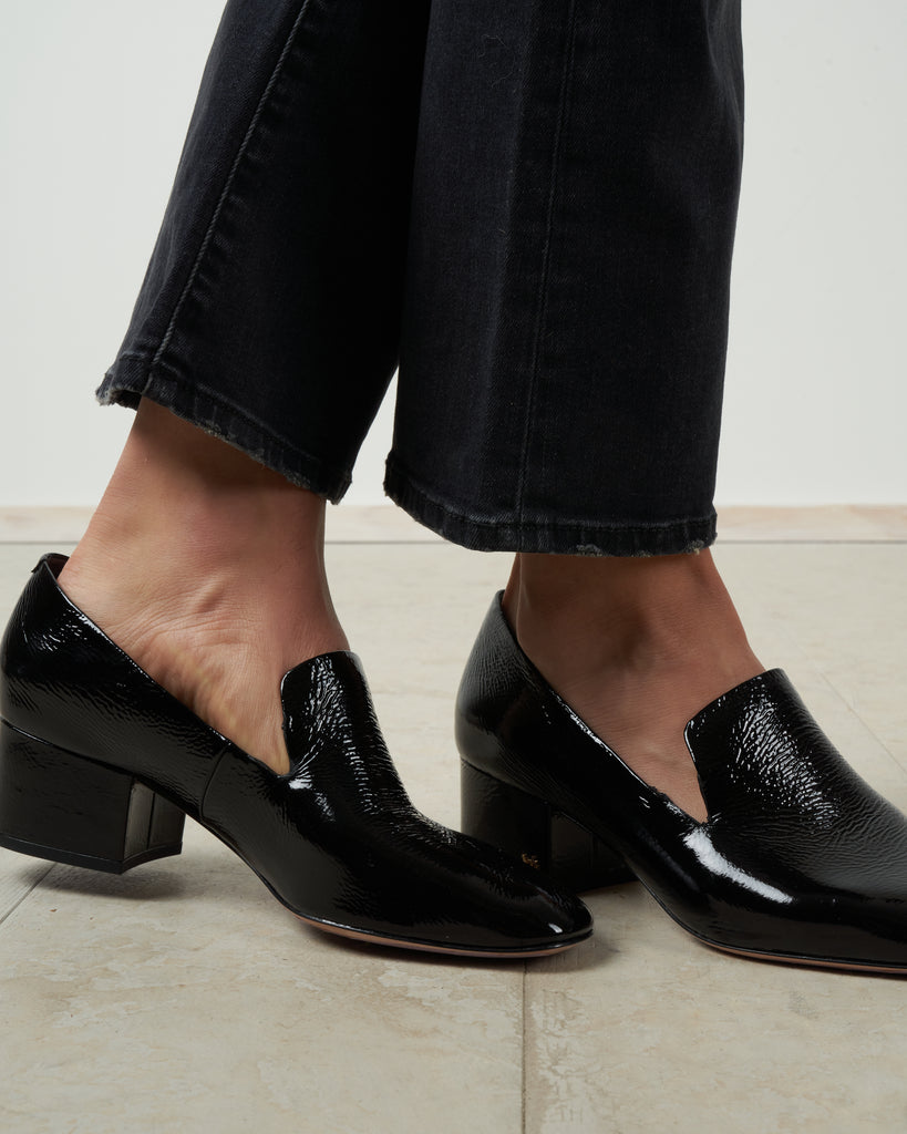 baylie heeled loafer - black