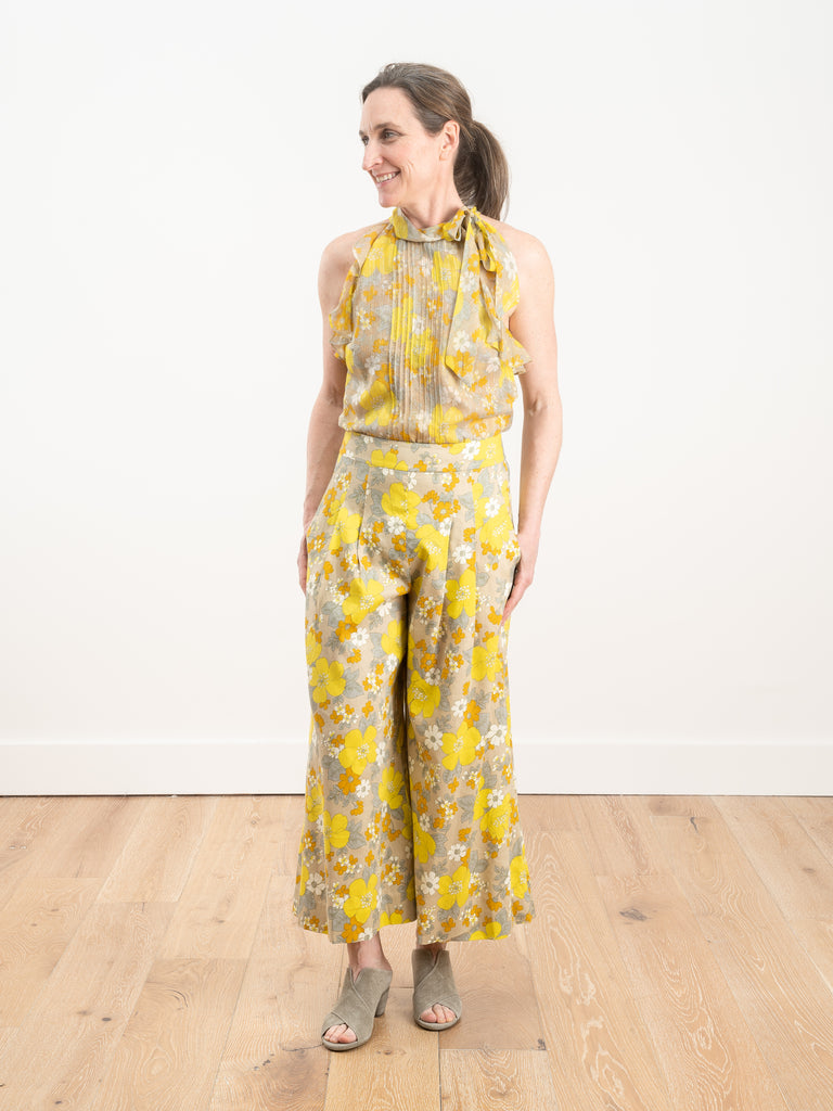 leonor pant - yellow multi