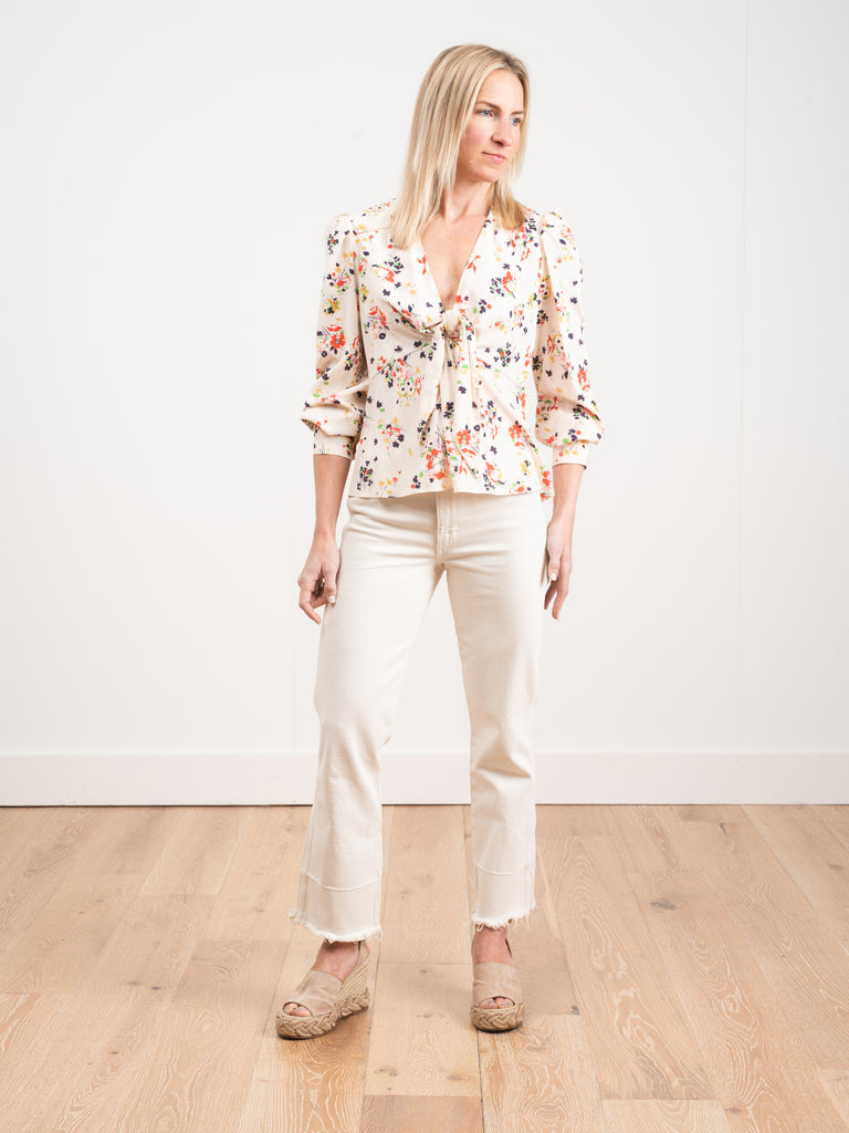 Veronica Beard Payton Blouse Cream Multi