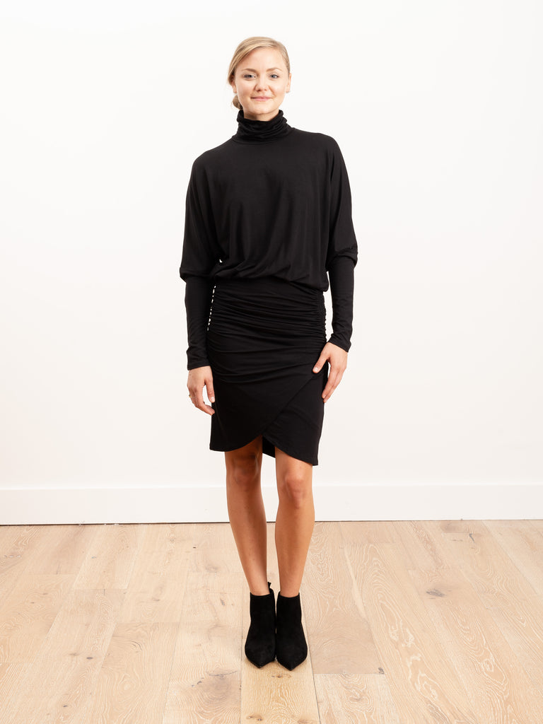 rollins turtleneck dolman dress