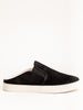 slide sneaker shearling lined - black