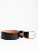 belt w/ brass buckle - black