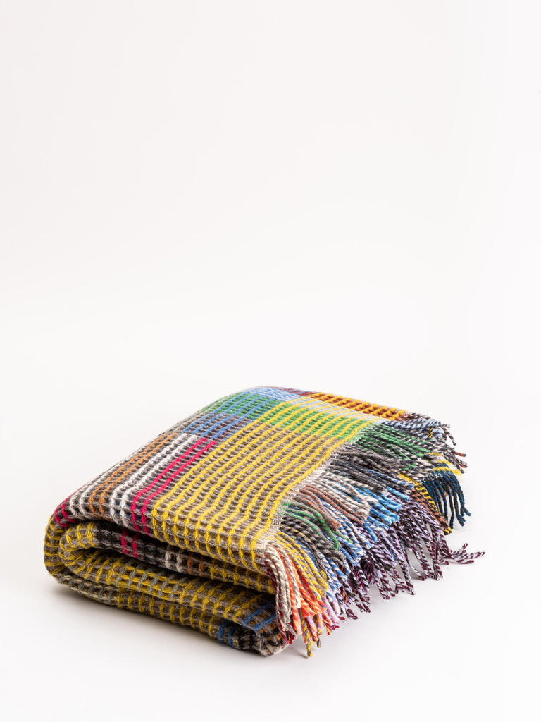 jeremiah small lambswool honeycomb throw