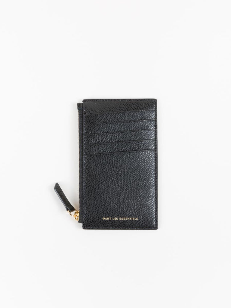 Want Les Essentiels Adana Zipped Cardholder in Black Grain