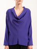 evi long sleeve top silk charmeuse - ultra violet