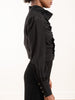 espionage cinched blouse - black