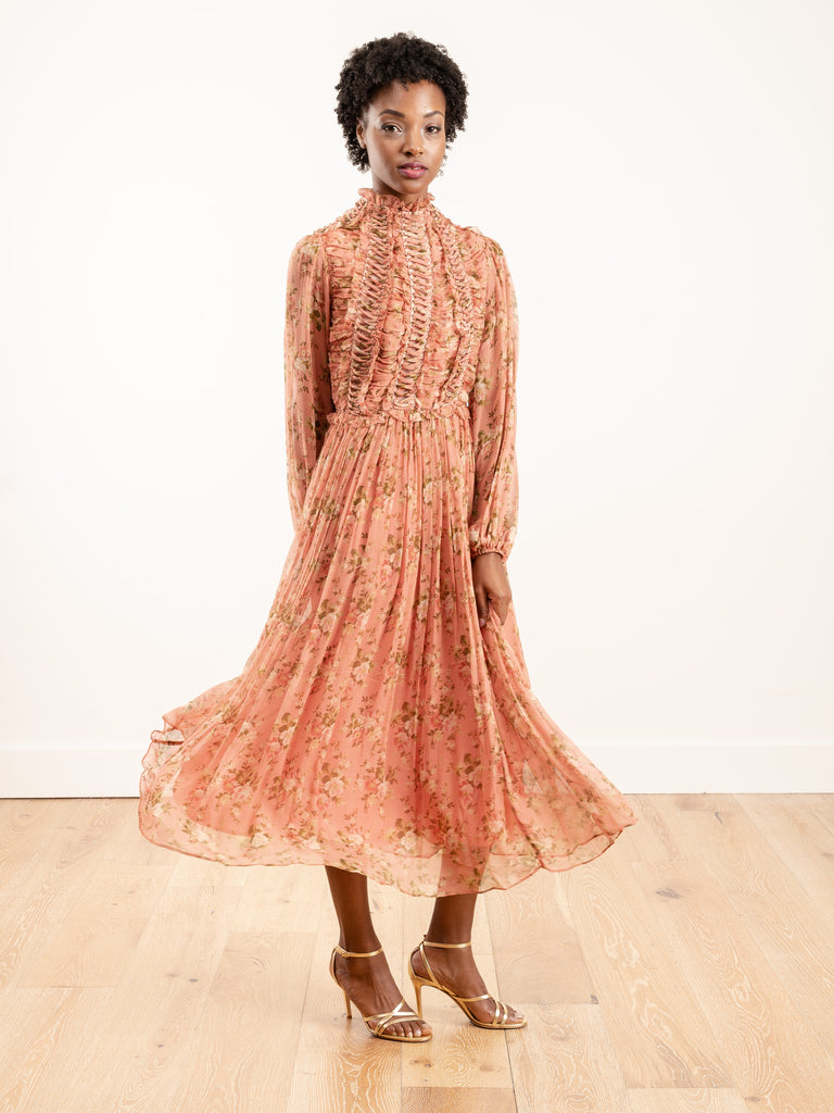 espionage laced ring dress - rosewood floral