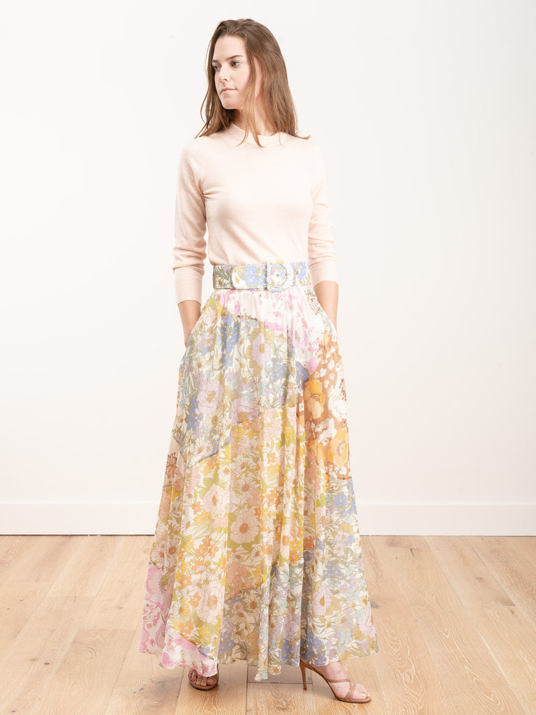 super eight maxi skirt - mixed floral