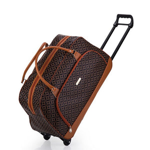 Luggage For Your Trip: Brand Luggage Travel Suitcase On Wheels Trolley Luggage Shopping Travel Suitcases for Girls Women