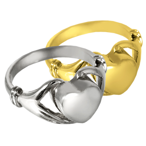 Silver Heart Ring for Cremains