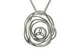 Cradle of Life Ripple Memorial Necklace