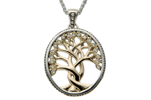 Gold Tree of Life with Diamonds