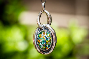 Cremation Jewelry Pendant with Cremation Ash