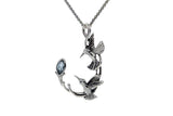 Sterling Silver Memorial Double Hummingbird Necklace