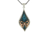 silver cremation jewelry pendant with butterfly motif