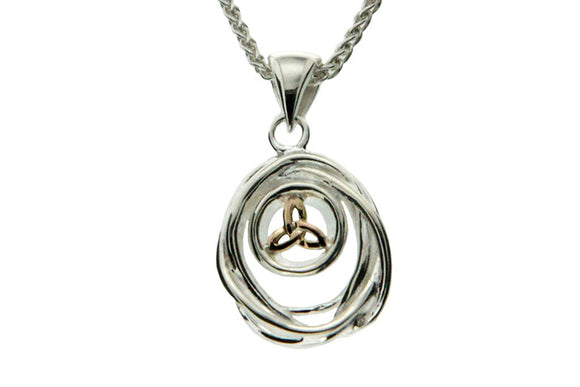 silver cradle of life necklace