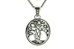 Petite Silver Tree of Life Sympathy Necklace