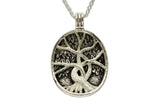 Reversable Tree of Life Silver and Gold Pendant