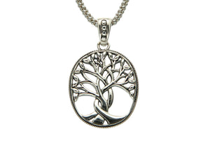 Silver Weaved Tree of Life Sympathy Necklace