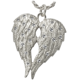 Angel Wings Pendant for Rememberance of Two Individuals