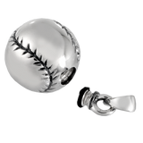 Silver Baseball Keepsake Pendant for Cremains