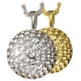 Silver Golfball Keepsake Pendant Urn for Cremains
