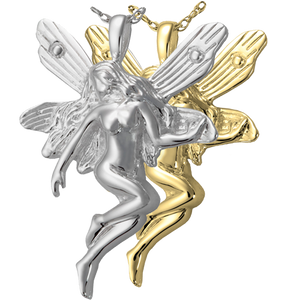 Silver Fairy Cremation Jewelry Pendant for Cremains