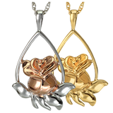 Rose Teardrop Keepsake Pendant for Cremains