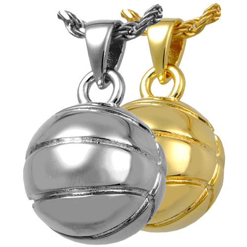 Silver and Gold Plated Memorial Basketball Pendant