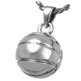 Silver Basketball Keepsake Pendant for Cremains