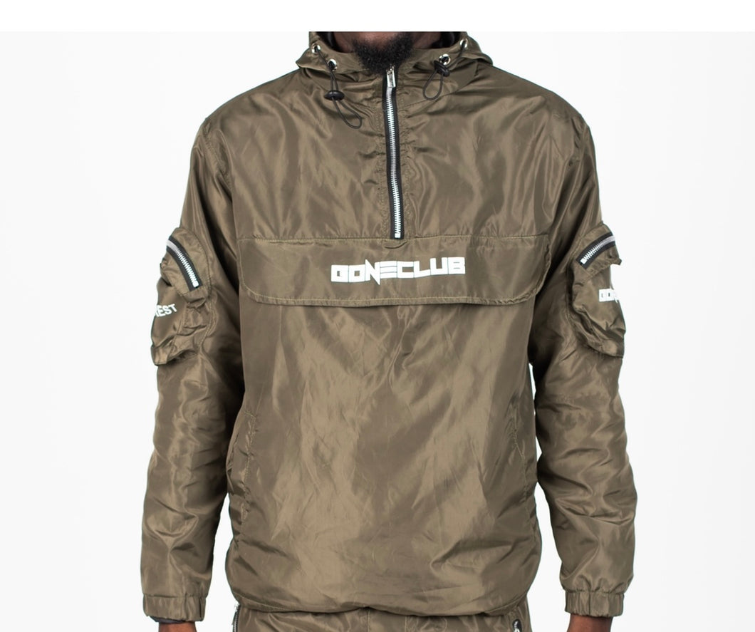 GC Cargo Windbreaker Jacket - Khaki