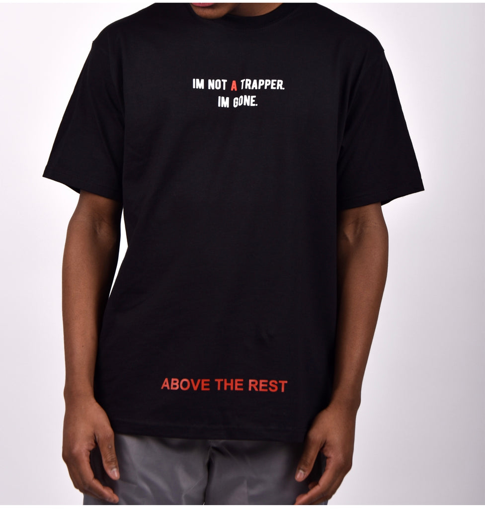 IM NOT A TRAPPER T-shirt - Black/Red
