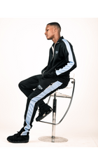 Load image into Gallery viewer, GC Tracksuit Bottoms - Black/Blue