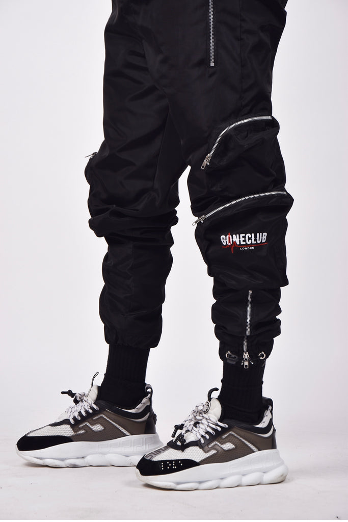 GONECLUB Classic Cargo Pants - Black (PRE-ORDER)